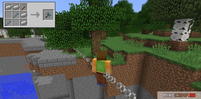 Железный гарпун мод для Minecraft