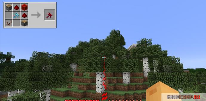Красный гарпун мод для Minecraft