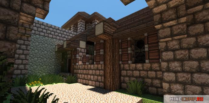 Средневековый замок Minecraft