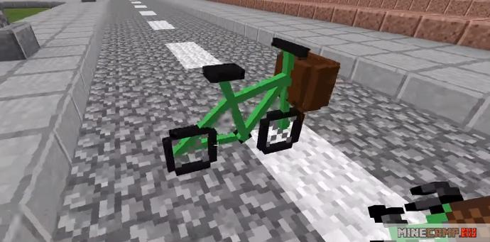 Мод на велосипед в майнкрафт 1.12 2
