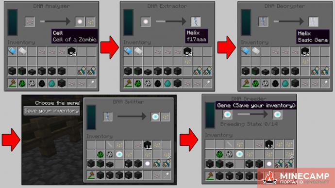 Advanced Genetics мод на способности мобов для Minecraft 1.7.10