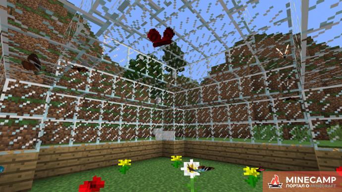 Butterfly Mania - мод на бабочек в Minecraft 1.7.10