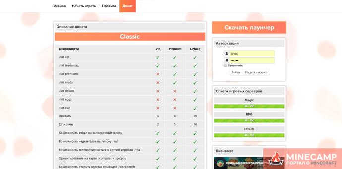 Шаблон для WebMCR START слив