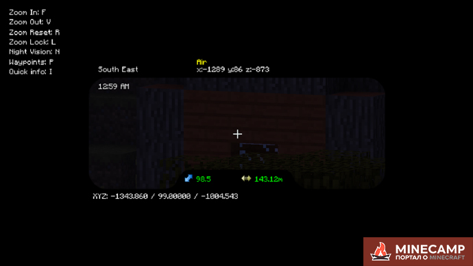 Binocular Mod - мод на бинокль в Майнкрафте