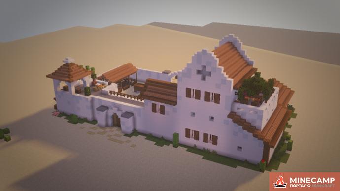 Mexico Hacienda карта особняка в Майнкрафт 1.14.4