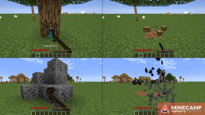 ZCBM Veinminer - датапак на продвинутое шахтерство и срубку деревьев для Minecraft 1.14.4