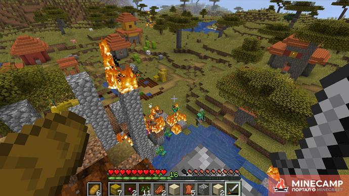 ZCBM Zombie Apocalypse - датапак на зомби апокалипсис для Minecraft 1.14.4