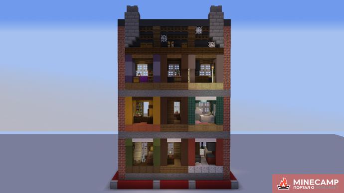 TownHouse городской дом в Майнкрафт карта