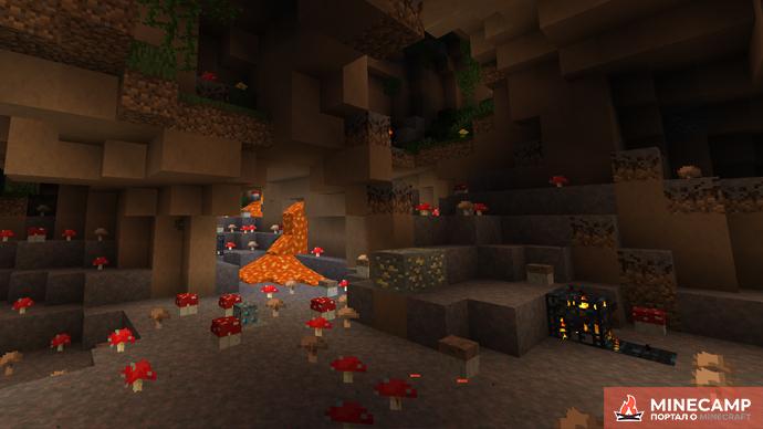ZCBM Caves датапак на пещеры для Майнкрафт 1.14.4