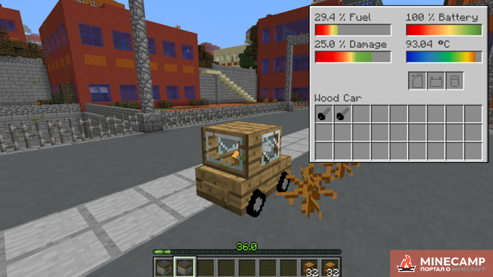Ultimate Car Mod - мод на машины для Minecraft 1.14.4 1.12.2
